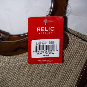 Relic Bags - NWT Relic Blake Satchel Woven Handbag Bag